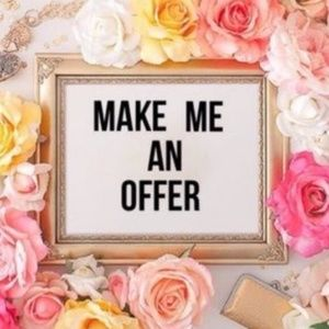 Always open to negotiation and offers ❤️